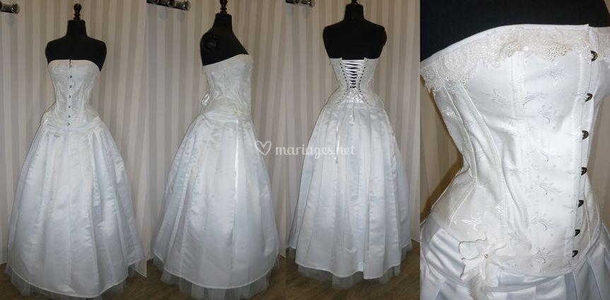 Robe de mariée satin