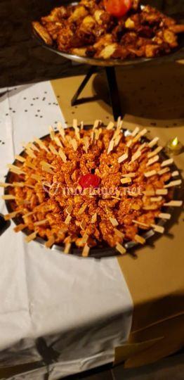 Mini brochettes de crevettes