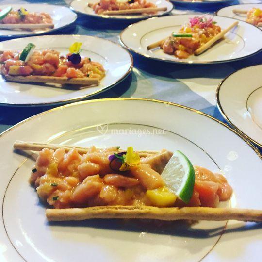 Tartare de saumon & mangue