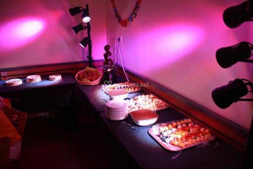 Eclairage de buffet