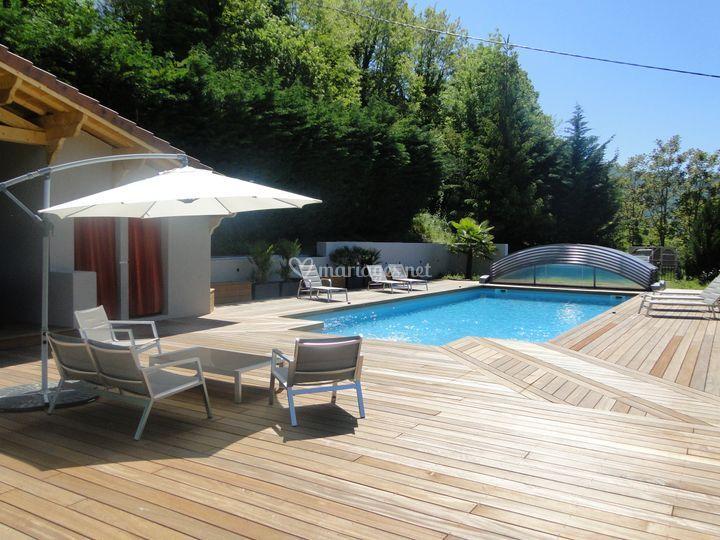 La piscine et le SPA...