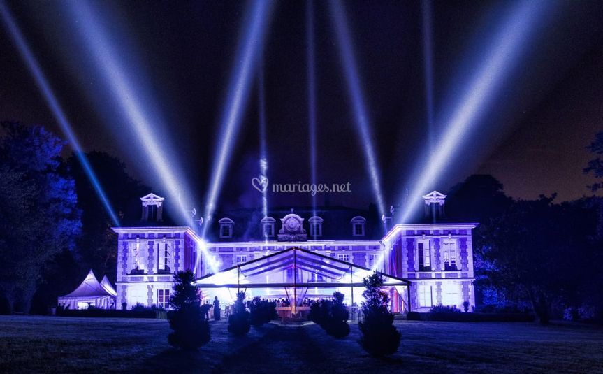Habillage lumière Chateau