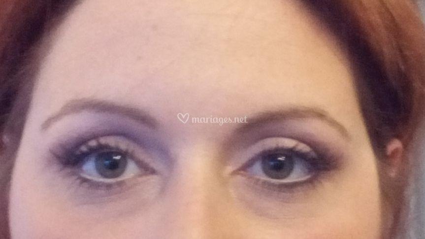 Les yeux de la future mariée