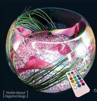 Vase boule lumineux 30 cm