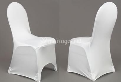 Housses de chaise lycra blanc