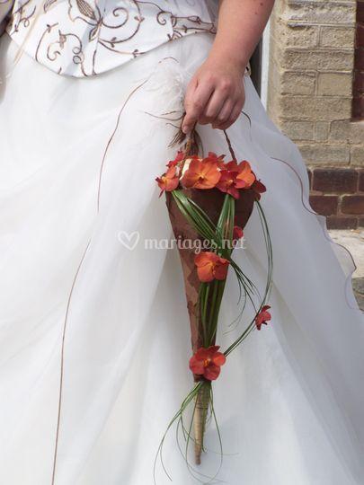 Bouquet de mariée sac