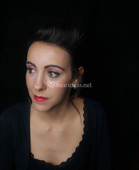 Maquillage mariée rétro