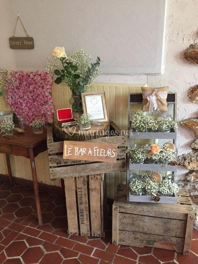 Déco Bar à fleurs