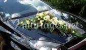Fleur voiture mariage