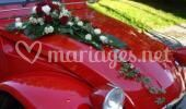 Voiture mariage fleur