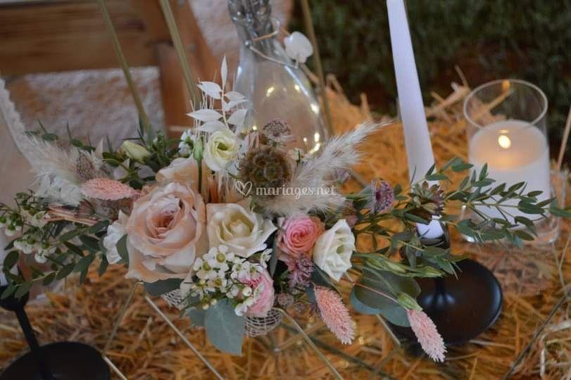 Mix fleurs séchées/naturelles