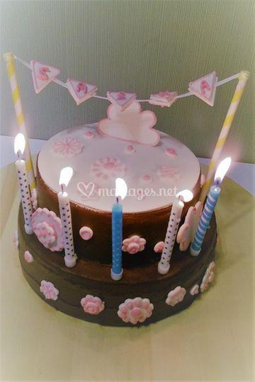 Gâteau d'anniversaire Gânache