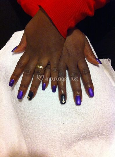 Pose d'ongles en gel