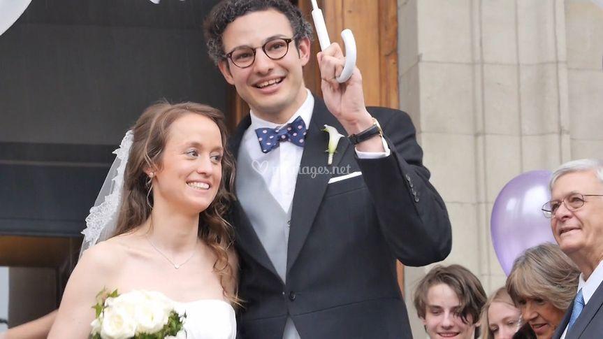 Couple de mariés genèvois