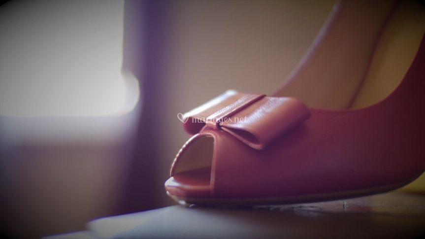 Chaussures d'une mariée