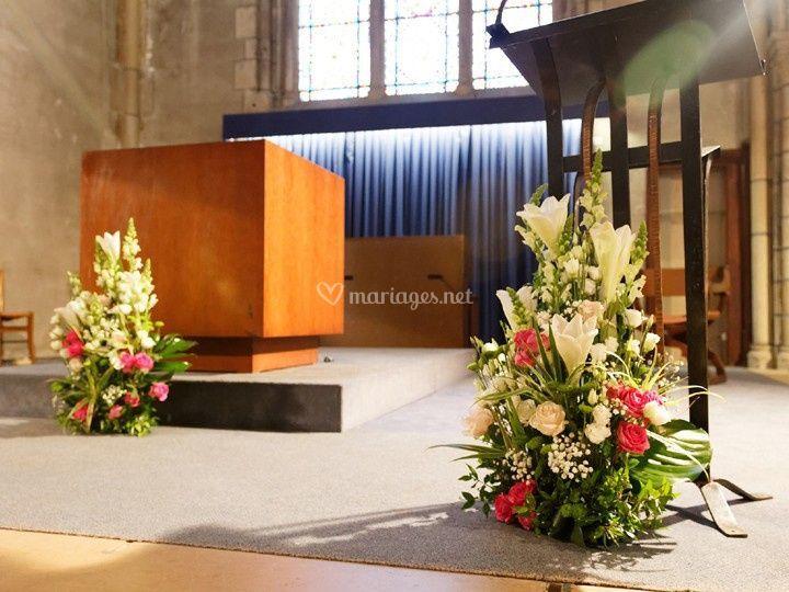 Décor d'autel de cérémonie