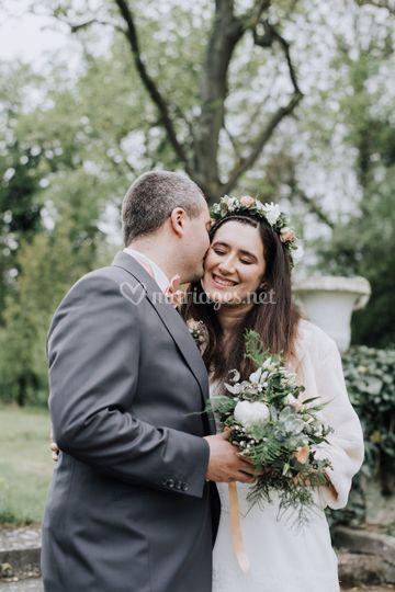 Bouquet et couronne de fleurs