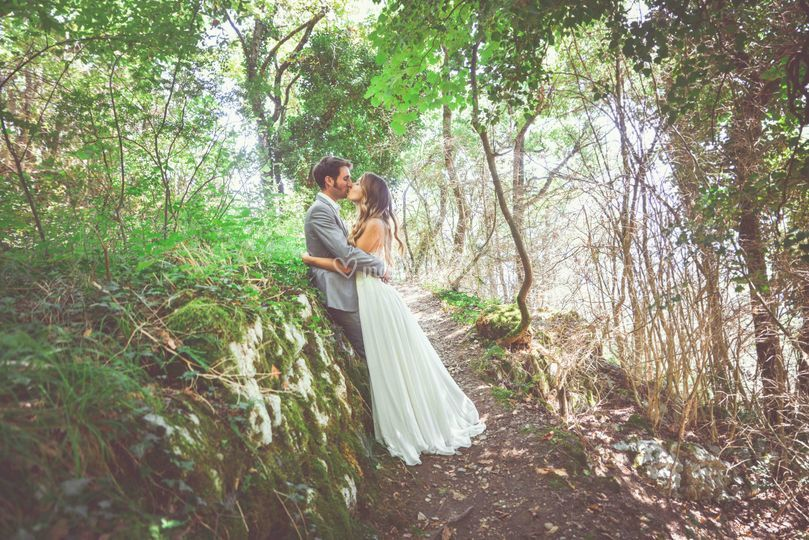 Kiss in the wood