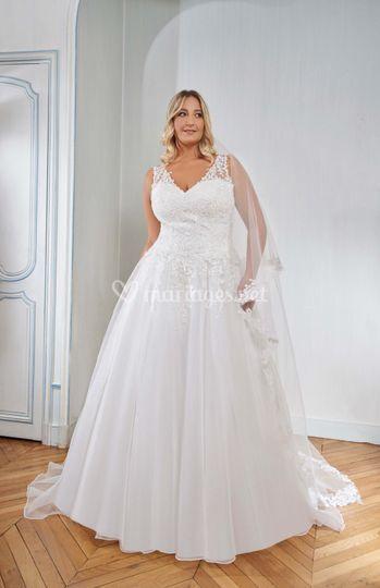 Robe de mariée grande taille