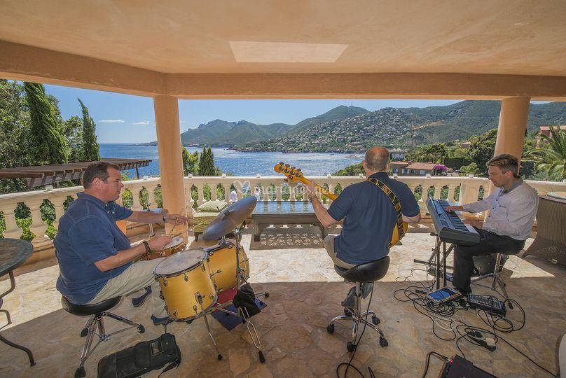 Musiciens terrasse