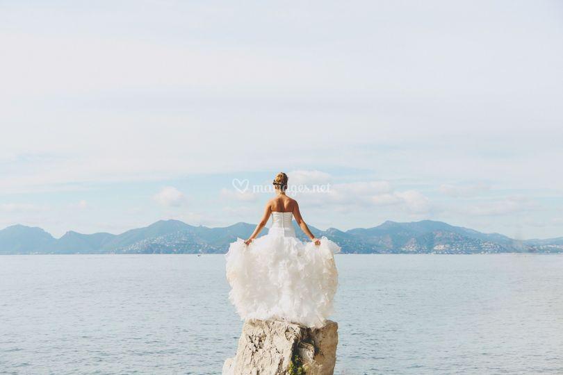 Mariée sur l'île de Lerens