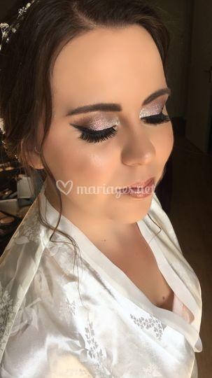 Maquillage mariée glitter
