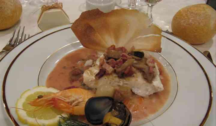 Le pavé de sandre grillée, sauce bourguignonne