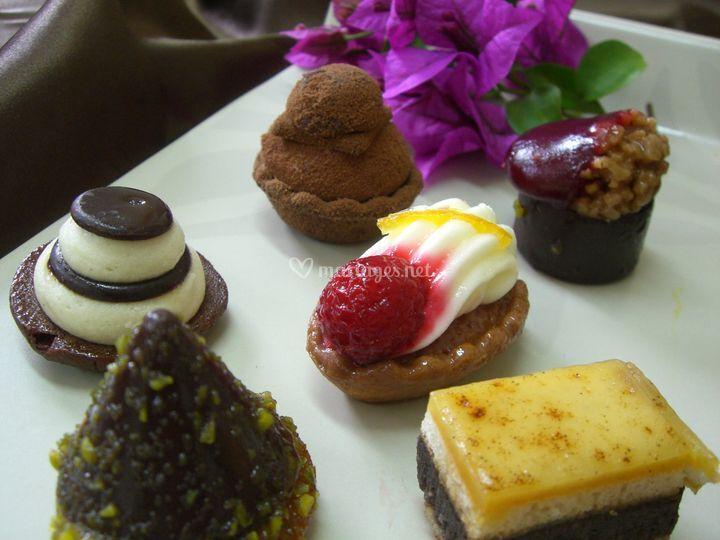Dessert sur assiette