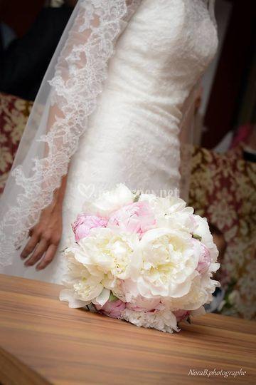 Bouquet de mariée - pivoines