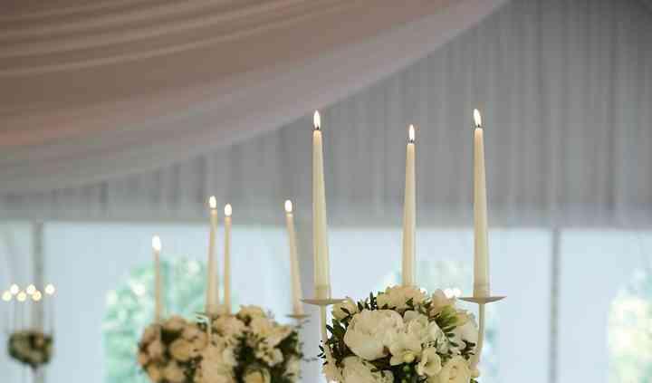 Table d'honneur chandeliers