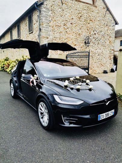 Tesla X fleurs Coeur