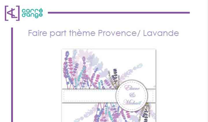 Faire part theme Lavande