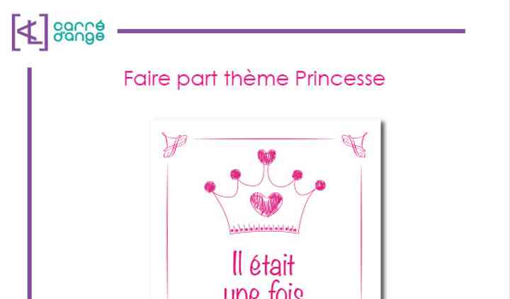 Faire part theme Princesse