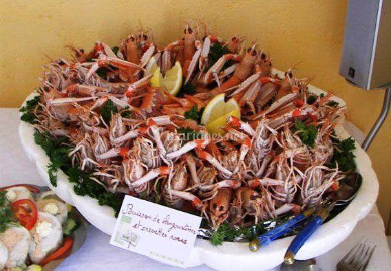 Buisson de langoustines
