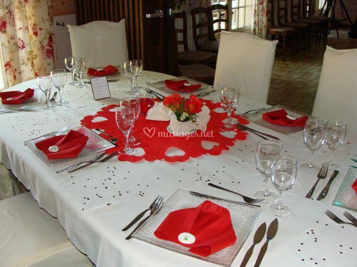 Décoration Table / Rouge Blanc
