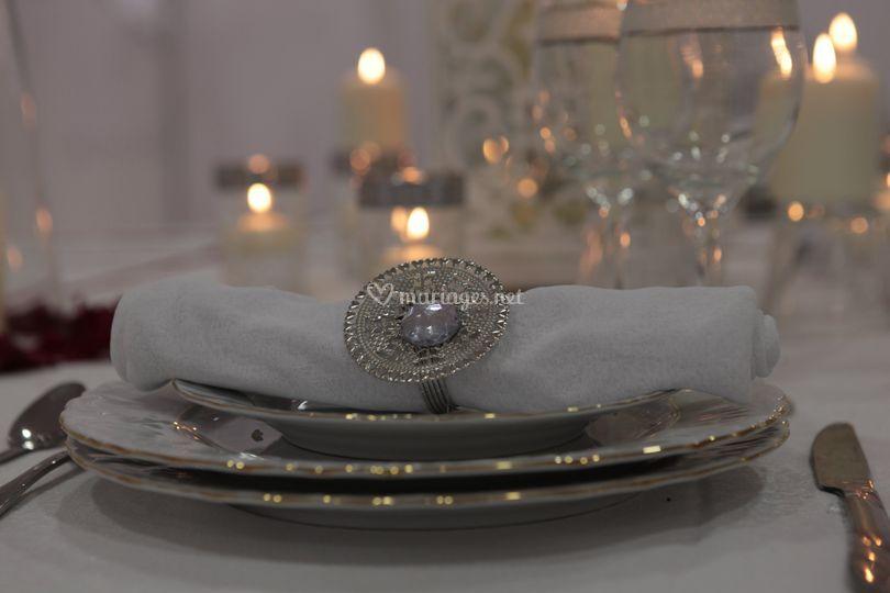 Détail décoration de table