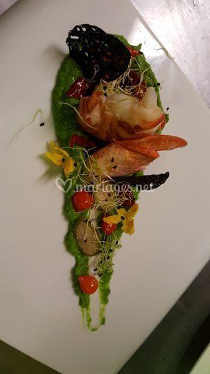 Melée de homard