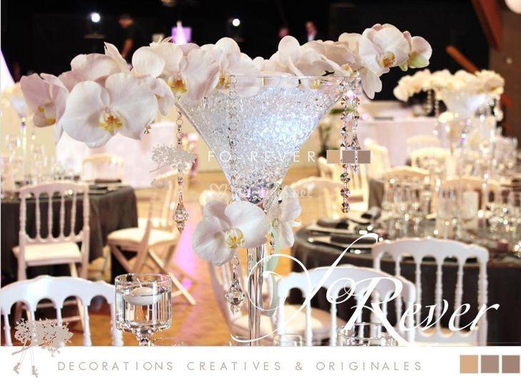 Centre de table orchidees