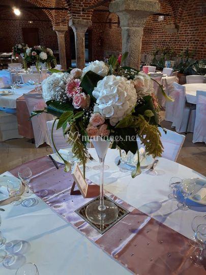Nos centres de table fleuris
