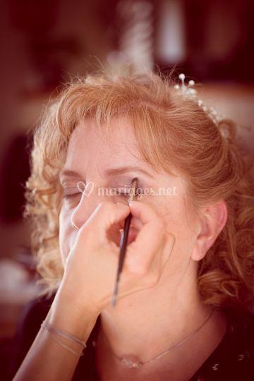 Maquillage des yeux doux