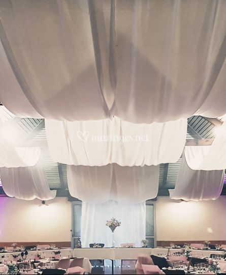 Drapés plafond, décor mariage
