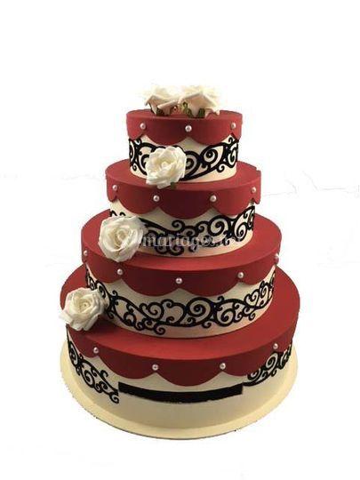 Urne Mariage Wedding Cake