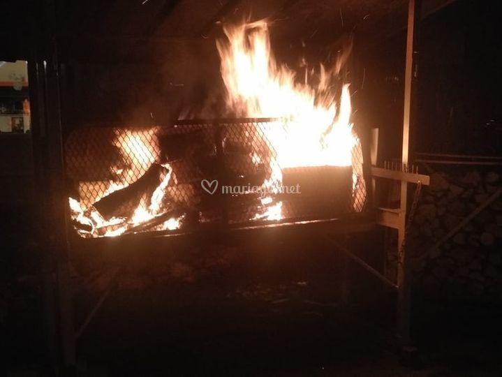 Allumage du Barbecue