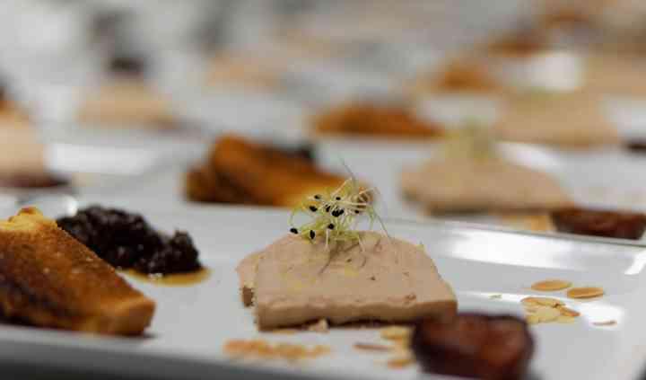 Fois gras toasts briochés