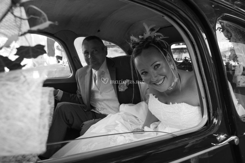 La mariée en voiture
