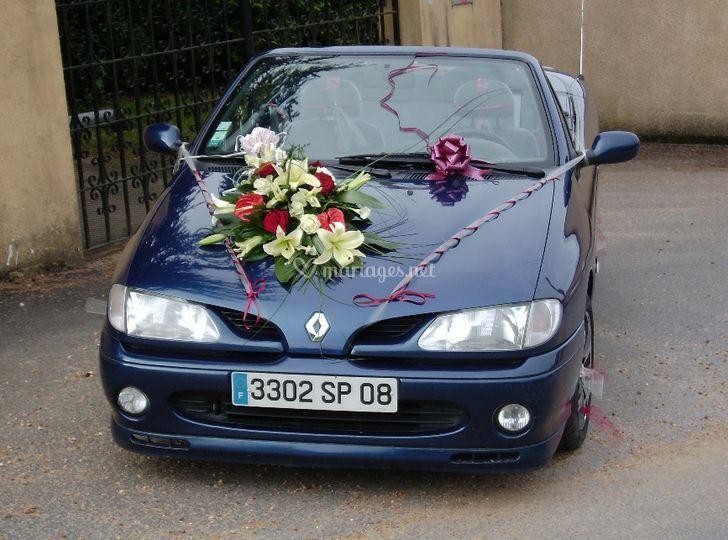 Cabriolet prête pour le mariage