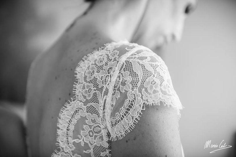 Détail manche robe de mariée