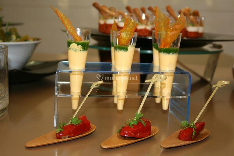 Gelée persil crème légumes