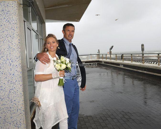 Mariage pluvieux, mais heureux