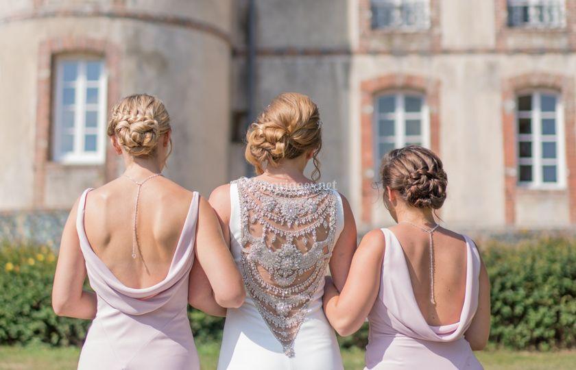 Mariée et ses bridemaids